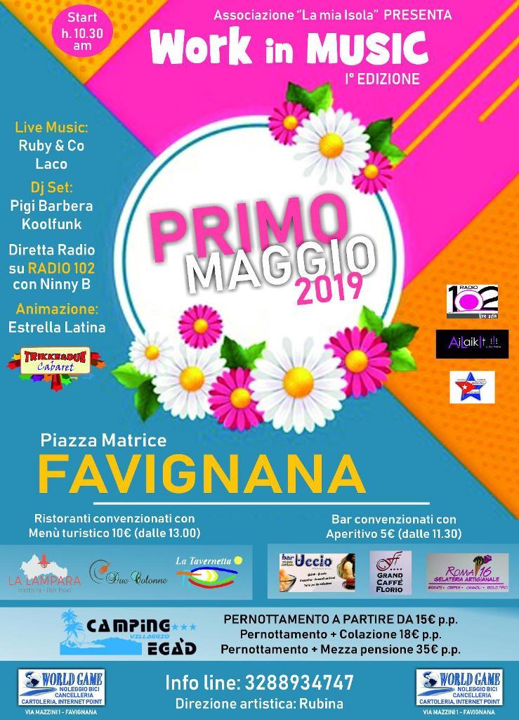 work in music, primo maggio a Favignana 2019