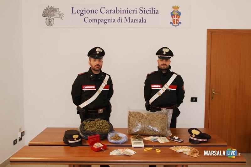 carabinieri marsala, droga