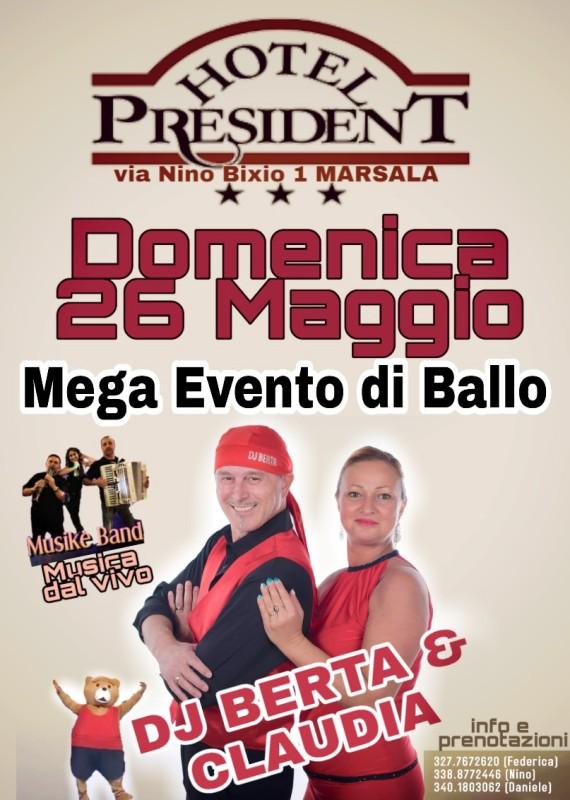 Dj Berta e Claudia, domenica 26 maggio Hotel President, Marsala