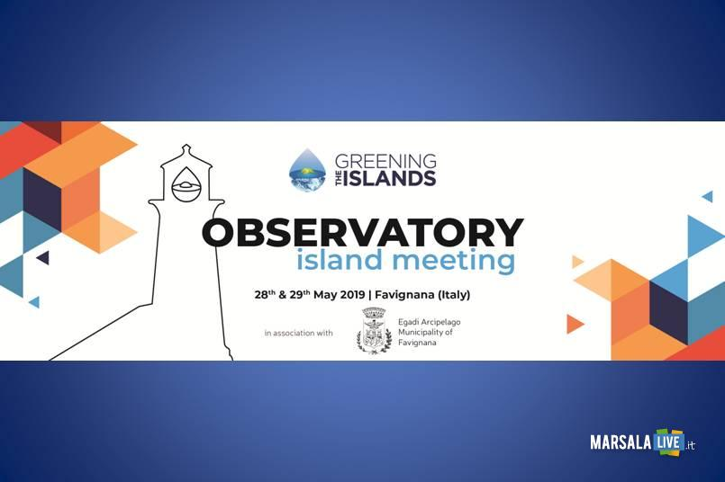 Favignana, meeting di Greening the Islands Observatory
