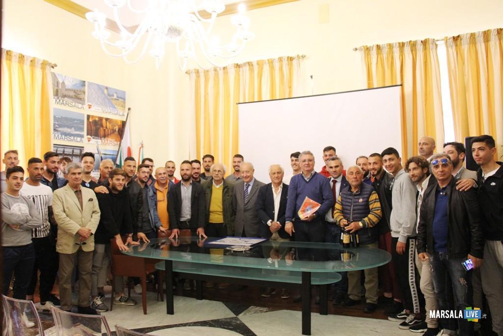 Marsala Calcio ricevuta a Palazzo Municipale