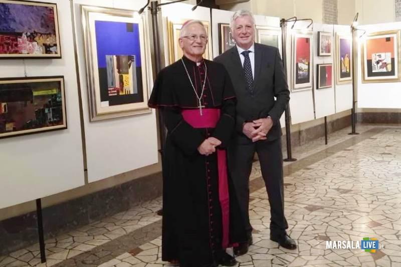 Mons. Fragnelli e Franco Marino