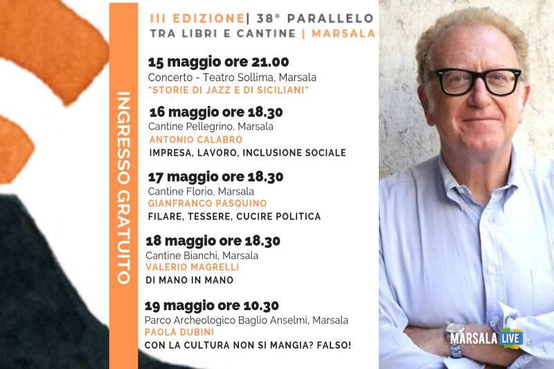 Valerio Magrelli a Marsala per 38° parallelo tra libri e cantine