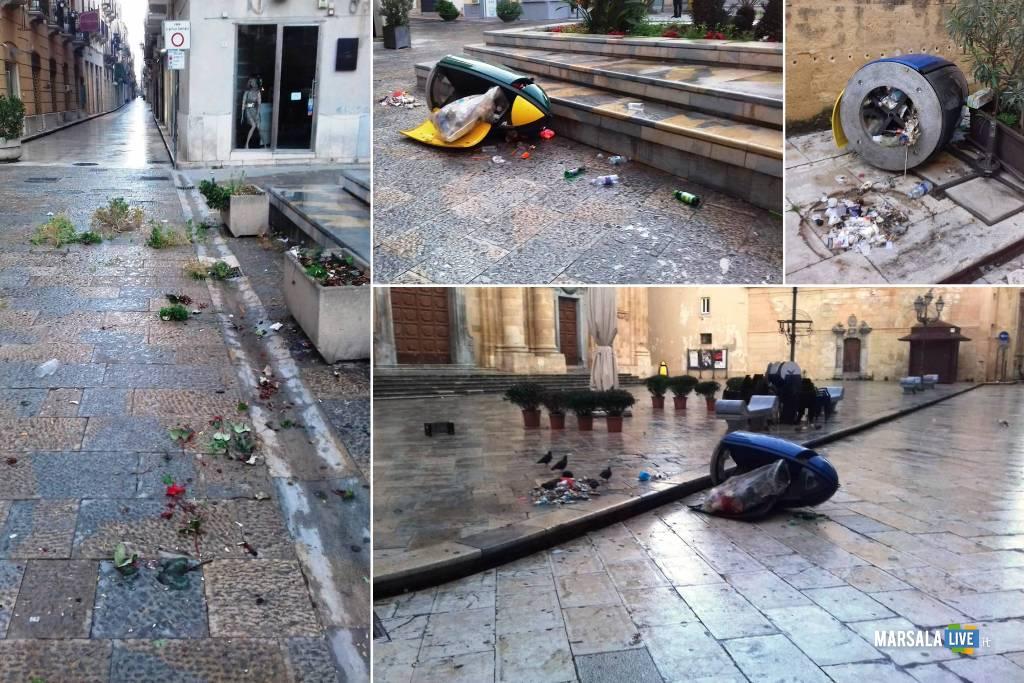atti vandalici nel centro storico di Marsala