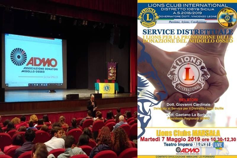 donazione del Midollo Osseo, lions club marsala