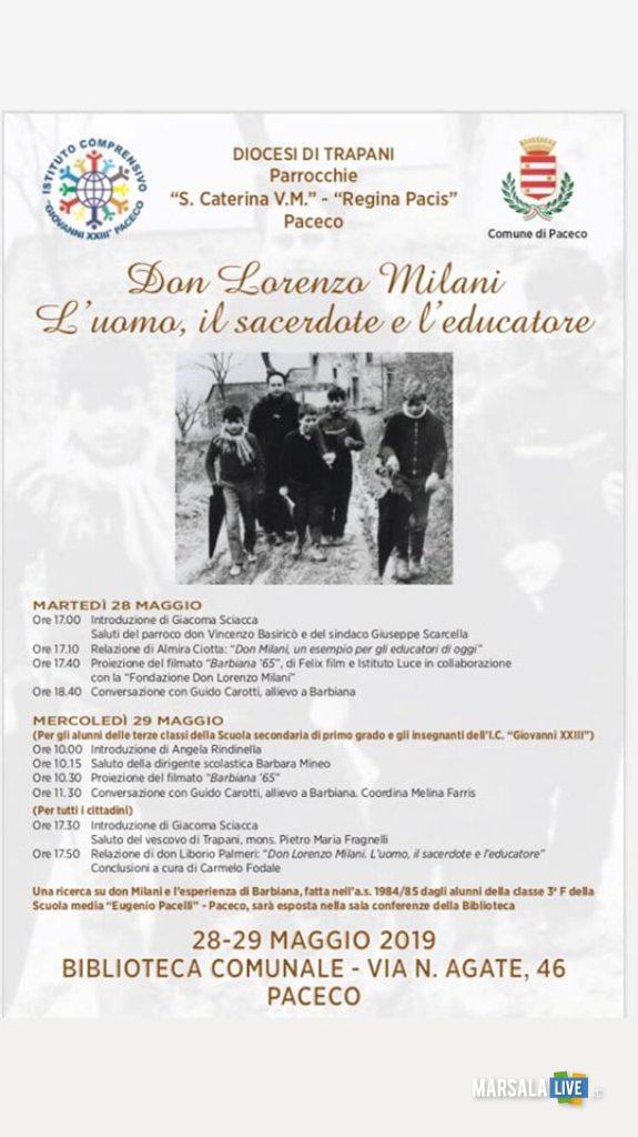 locandina don Milani paceco
