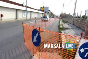 marsala. lavori in via salemi - maggio 2019