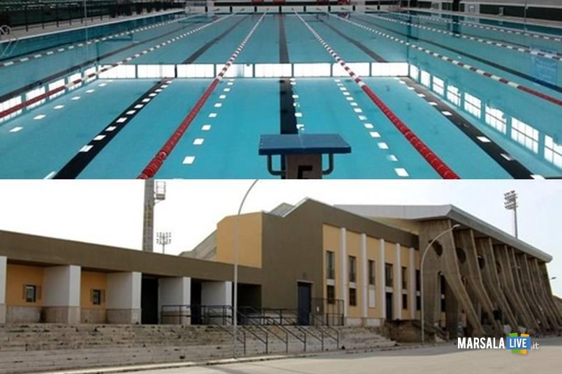 piscina comunale, stadio, marsala