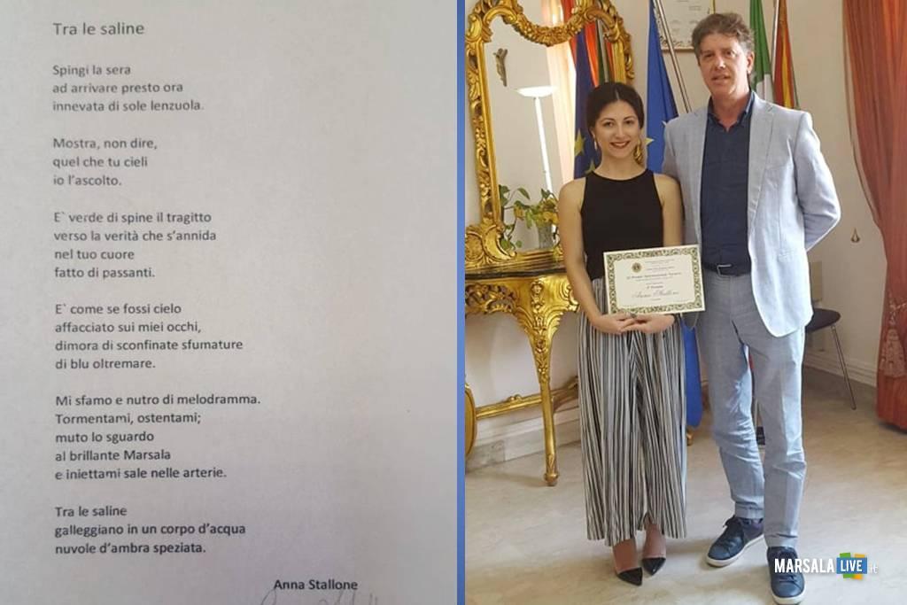 Anna Stallone, vincitrice 3° Premio di Poesia Navarro