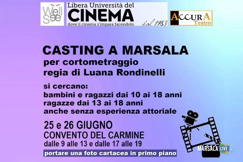 Casting dell'attrice Luana Rondinelli a Marsala