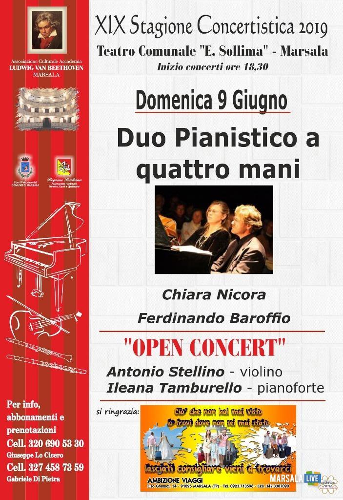 Duo pianistico a quattro mani, concerto Sollima Marsala