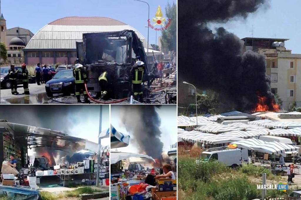 Esplosione al mercatino di Gela