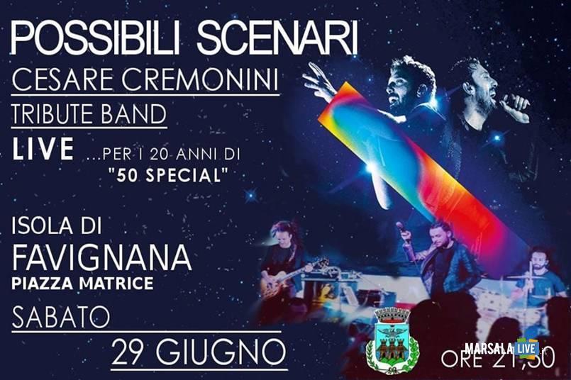 Favignana, concerto 20 anni di carriera Cesare Cremonini