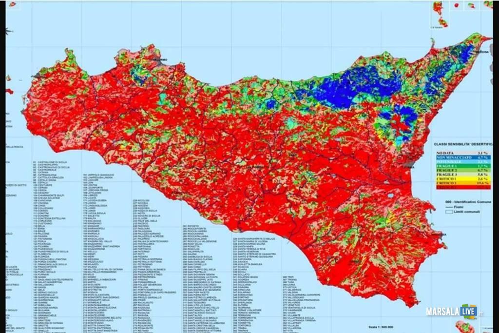 Giornata mondiale per combattere la desertificazione, Sicilia