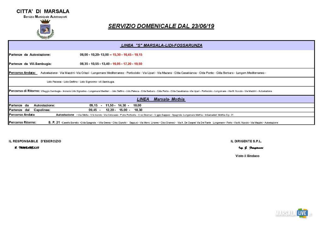 Marsala, trasporto urbano, orario estivo (2)