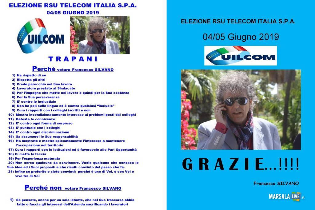 Rsu Telecom Italia, Francesco Silvano - Uilcom, grazie