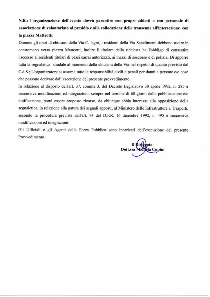 chiusura di via Calogero Isgrò, marsala (1)