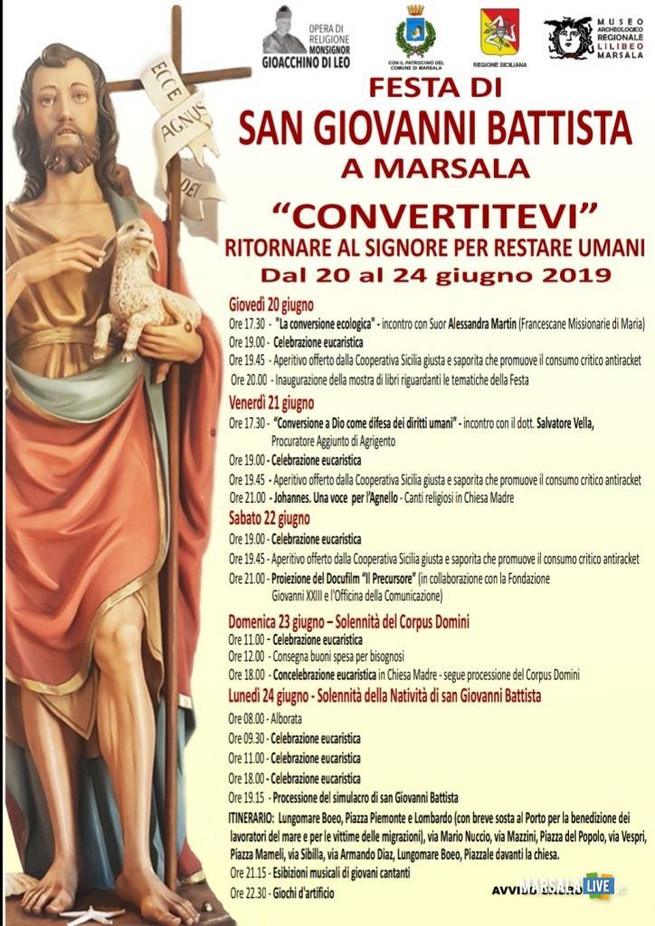 festeggiamenti in onore di San Giovanni Battista, Marsala