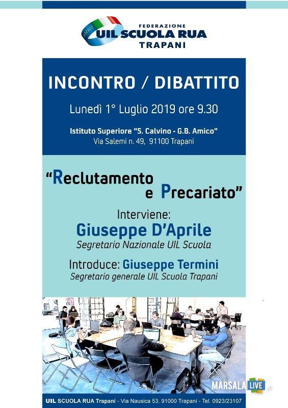 incontro-dibattito della Uil Scuola Trapani 2019