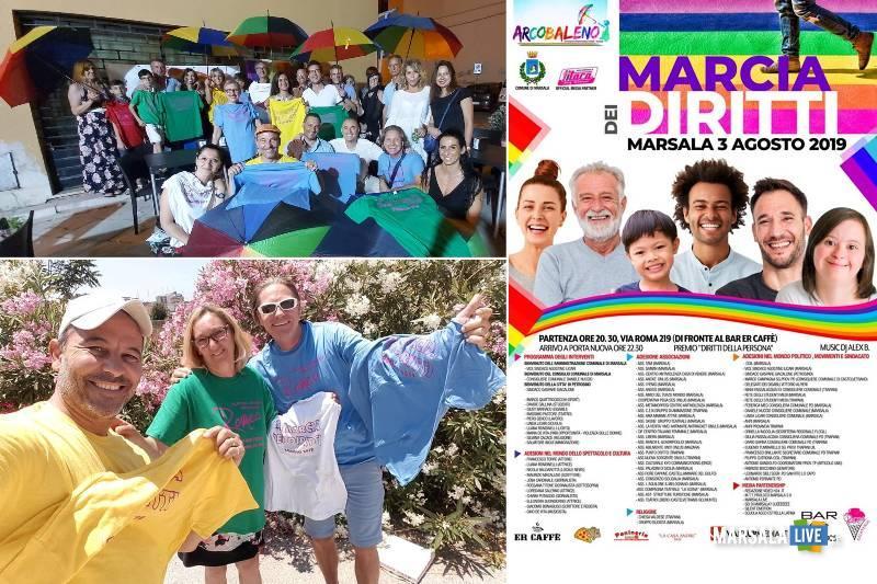 marcia dei diritti a Marsala 2019