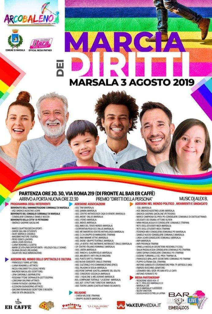 marcia dei diritti a Marsala
