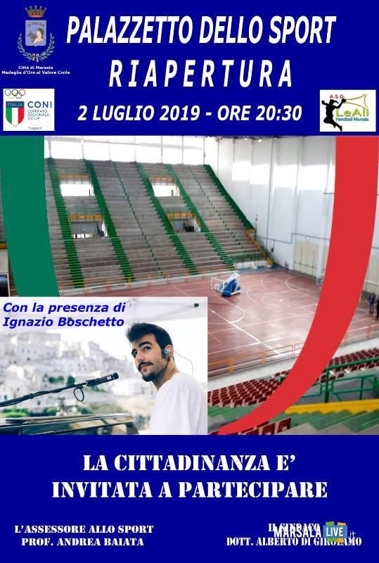 palazzetto dello sport, marsala - Ignazio Boschetto 2019