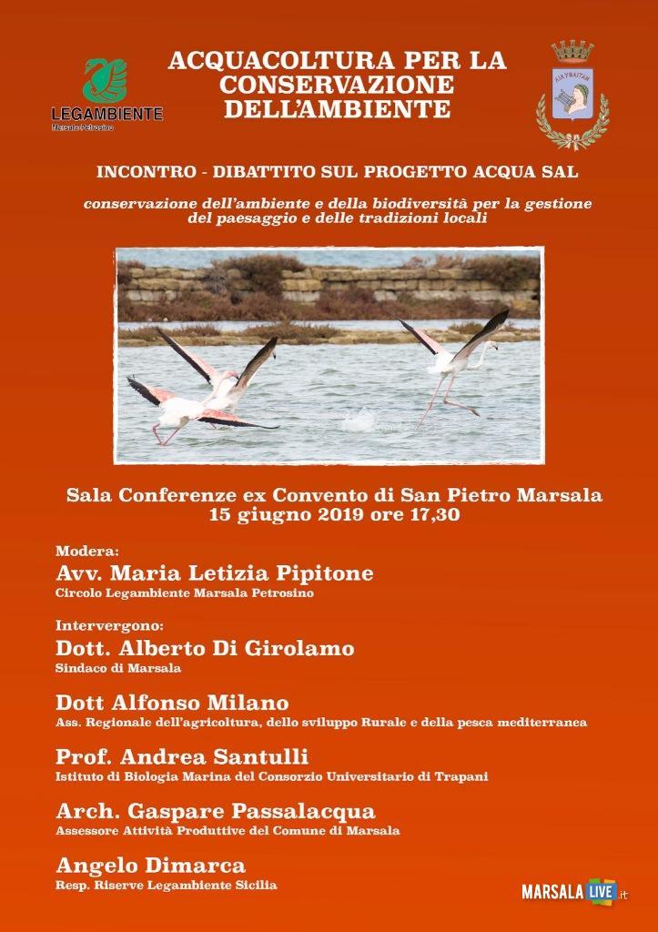 progetto AcquaSal allo Stagnone, Marsala