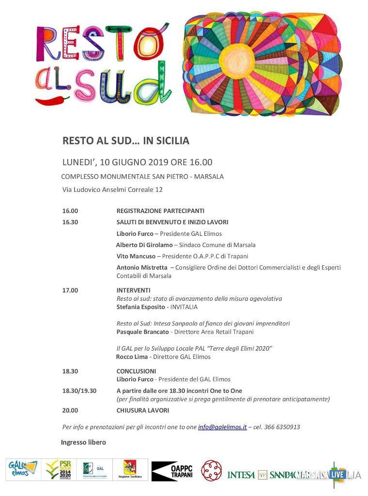 resto al sud, in sicilia - Marsala 2019