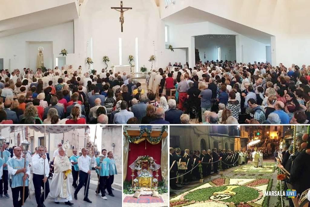 solennità del Corpus Domini, Diocesi di Trapani