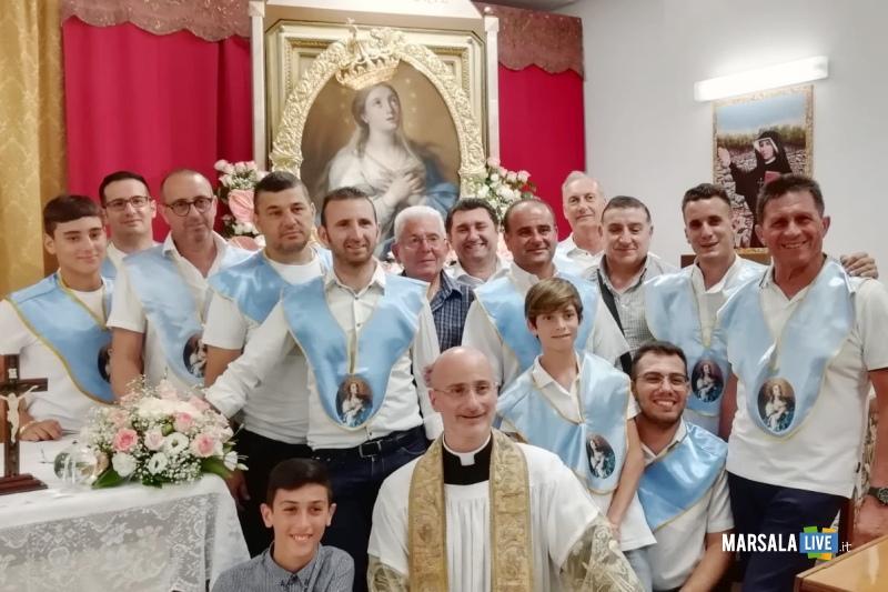 Cappella Ospedale Mazara, Madonna Paradiso visita ammalati (1)