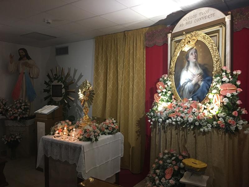 Cappella Ospedale Mazara, Madonna Paradiso visita ammalati (4)