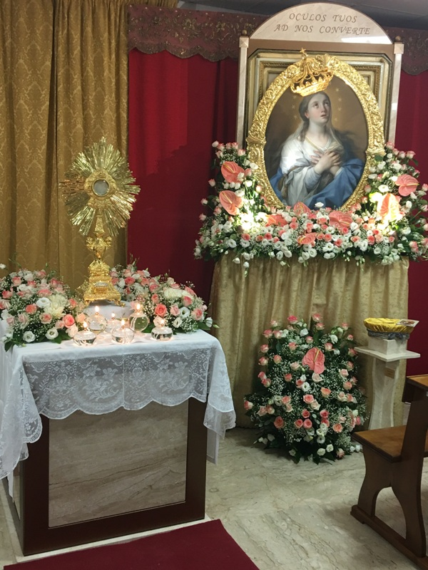 Cappella Ospedale Mazara, Madonna Paradiso visita ammalati (5)