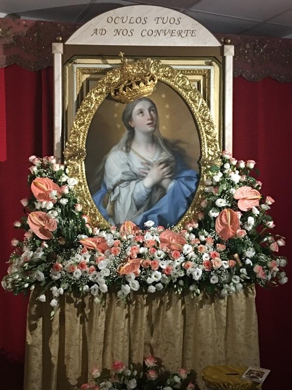 Cappella Ospedale Mazara, Madonna Paradiso visita ammalati (7)