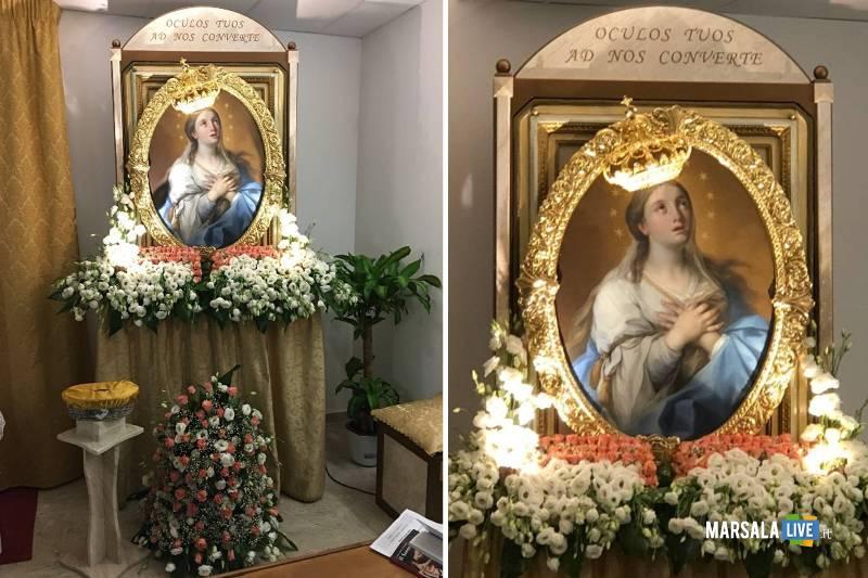 Madonna del Paradiso in ospedale a Mazara (1)