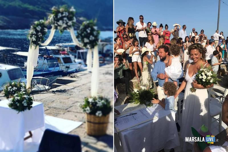 Manuela e Antonio, sposi a Marettimo