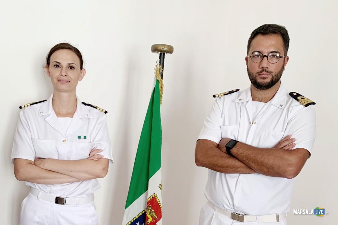 Nicola Pontillo e Carla Picardi, passaggio consegne Circomare Marsala