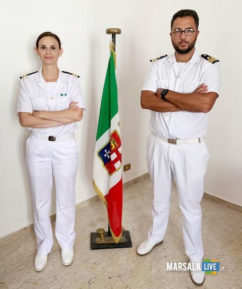 Nicola Pontillo,Carla Picardi, passaggio consegne Circomare Marsala