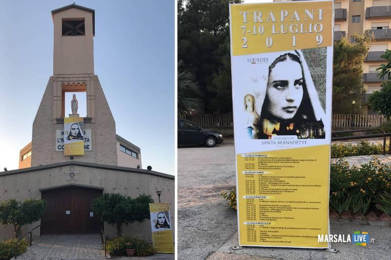 Trapani, reliquie di Santa Bernardette, veggente Lourdes