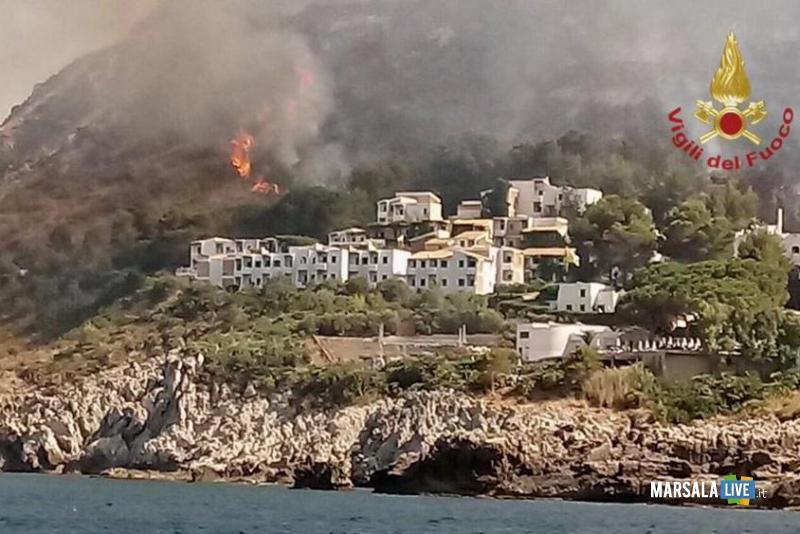 Villaggio Calampiso, san vito lo capo, incendio