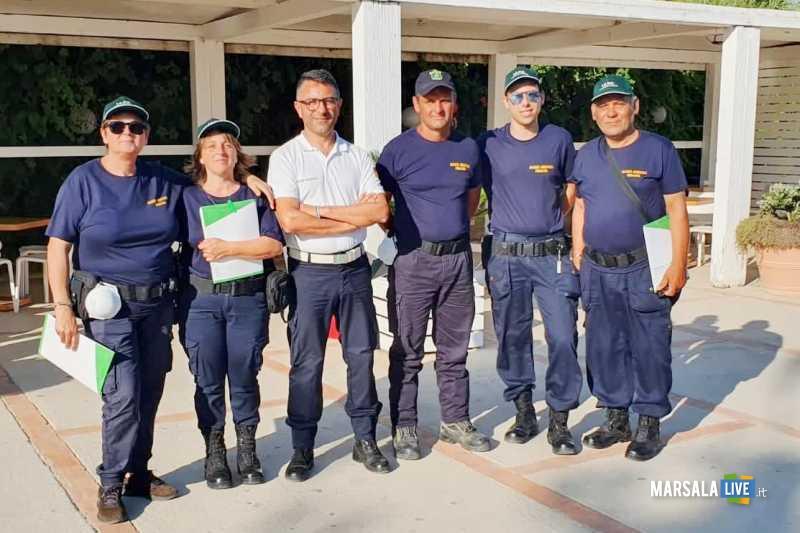comandante PM Giuliano panierino e ispettori volontari ambientali_04.07.2019