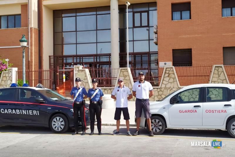 guardia costiera e carabinieri, san vito lo capo