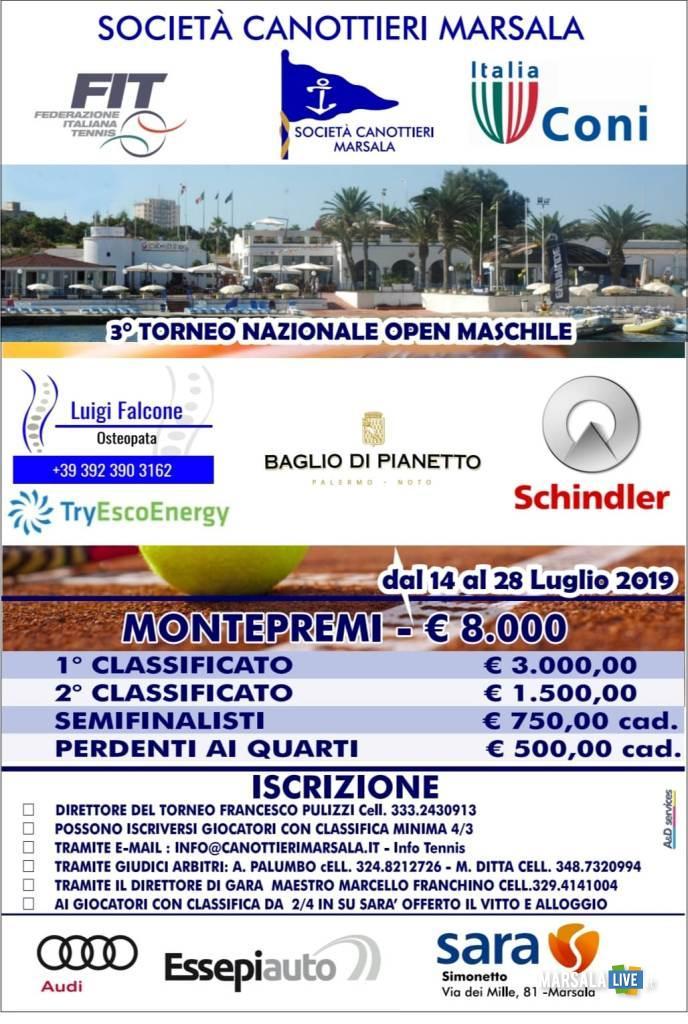 locandina torneo open maschile 2019