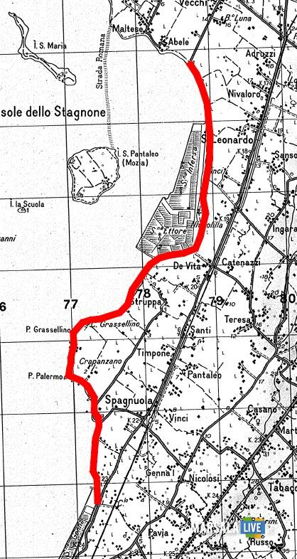 percorso pista ciclabile marsala