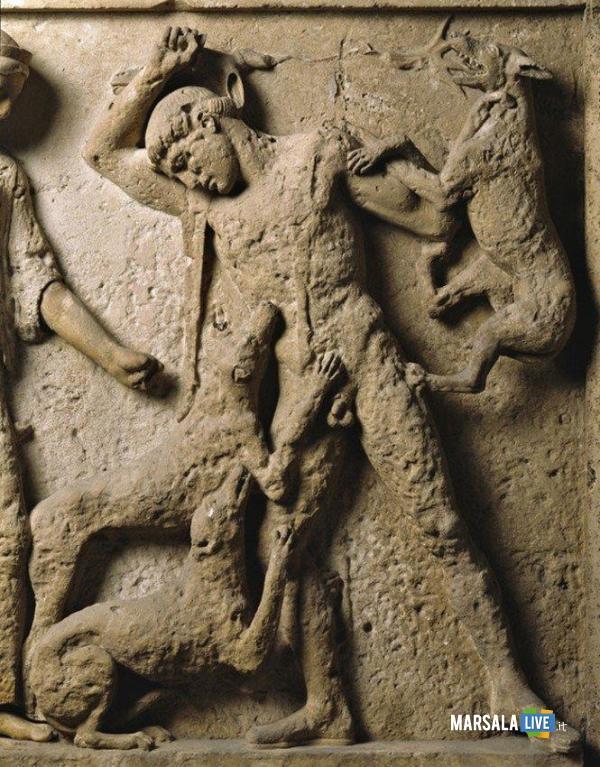 4_Music from Myths_Metope di Selinunte_Artemide e Atteone (V secolo, Tempio E)