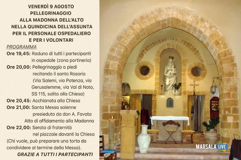 Cappella Ospedale Mazara, pellegrinaggio Madonna dell_Alto 2019