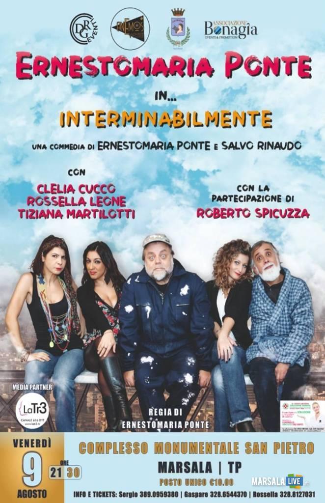 Ernesto Maria Ponte con Interminabilmente, marsala 2019