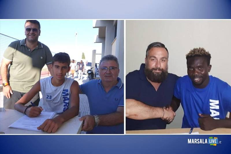 Marsala Calcio, Elton Ogbebor e Christian Vellutato