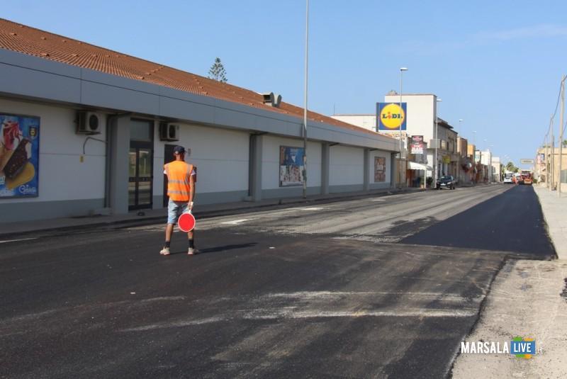 Rifacimento asfalto via Salemi, marsala
