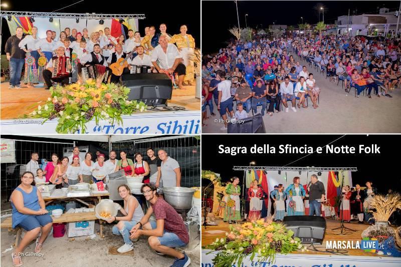 Sagra della Sfincia e Notte Folk 2019, piazza Biscione Petrosino