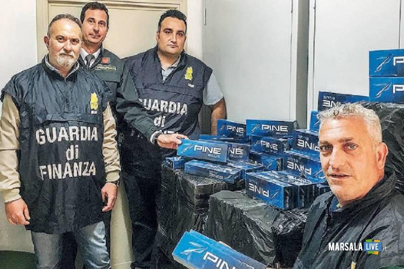 contrabbando sigarette a Marsala, guardia di finanza